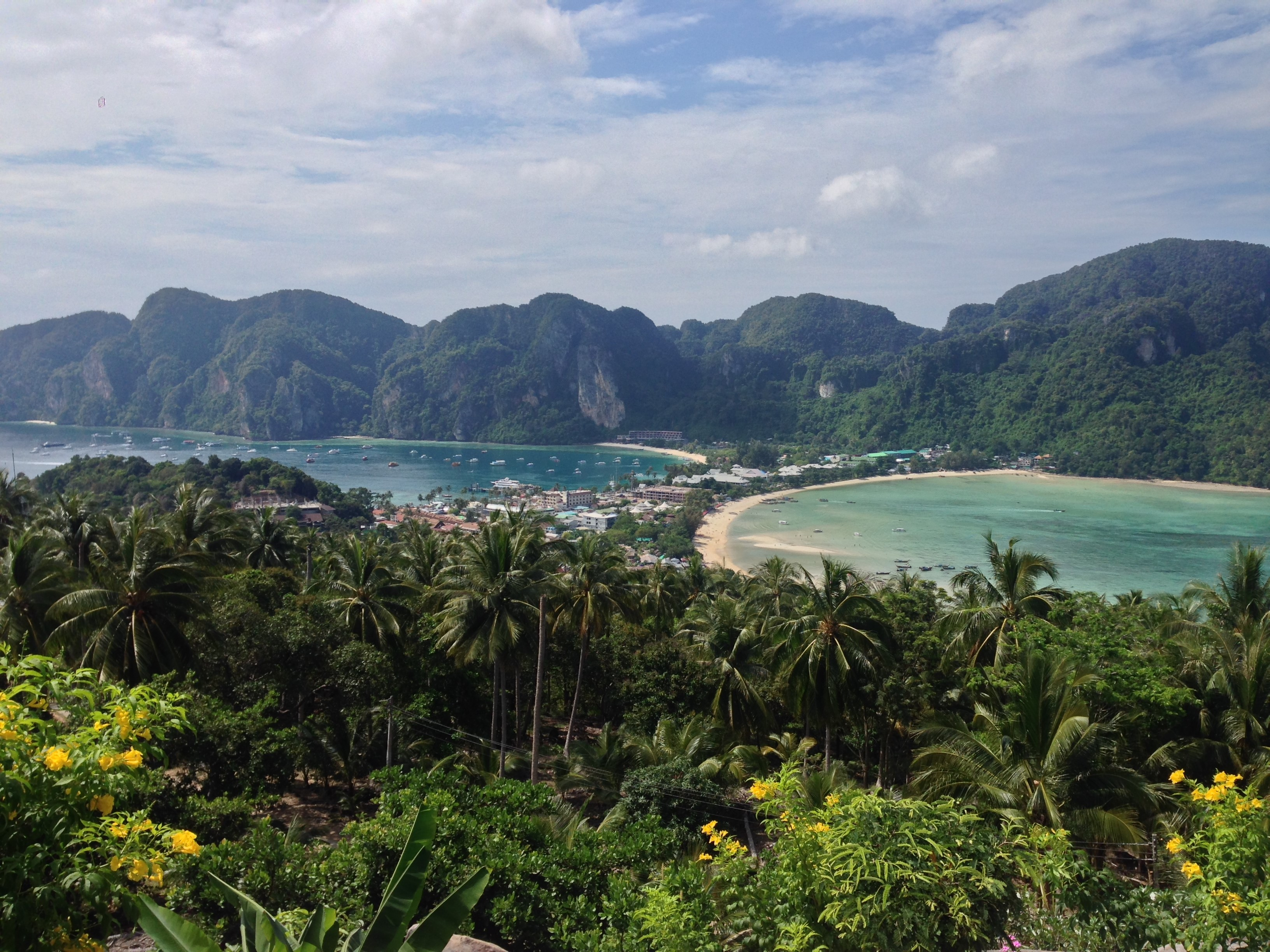 thailand, koh phi phi, island, travelling, backpacking, travel, beach, bay, twin bays,