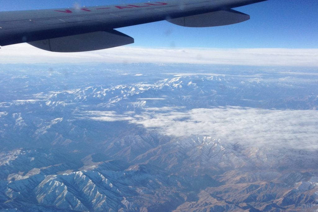 mountains, plane, view, flight, flying, journey, bangkok, middle east