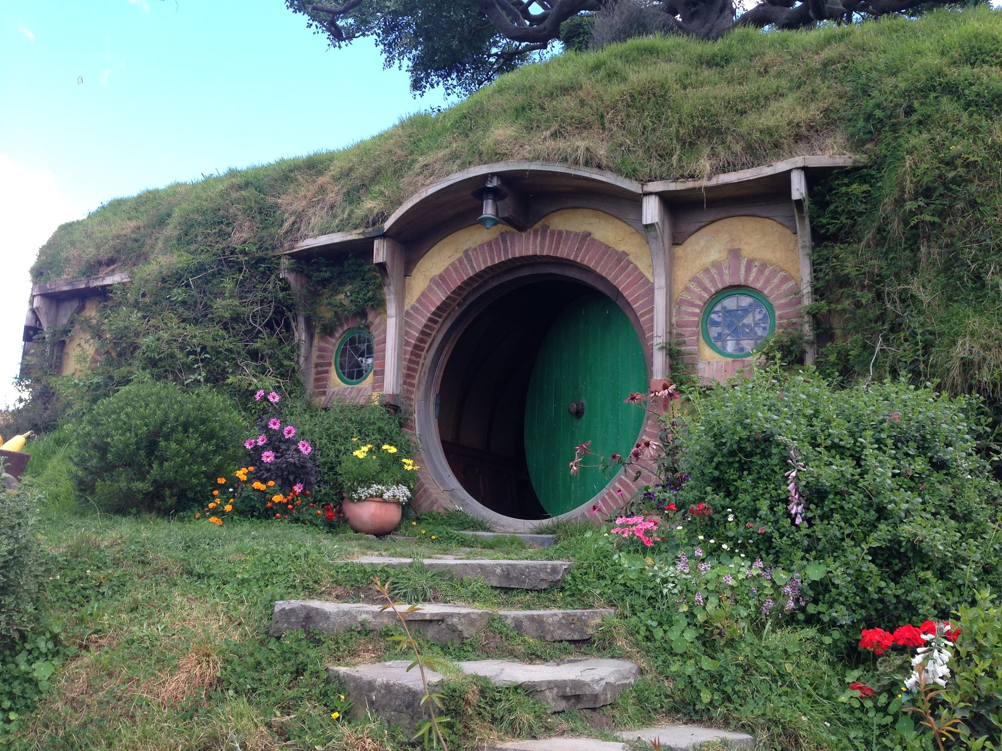 Bilbo's House, Hobbiton, matamata, lord of the rings, New Zealand, film set, north island, hobbit, hobbit hole,