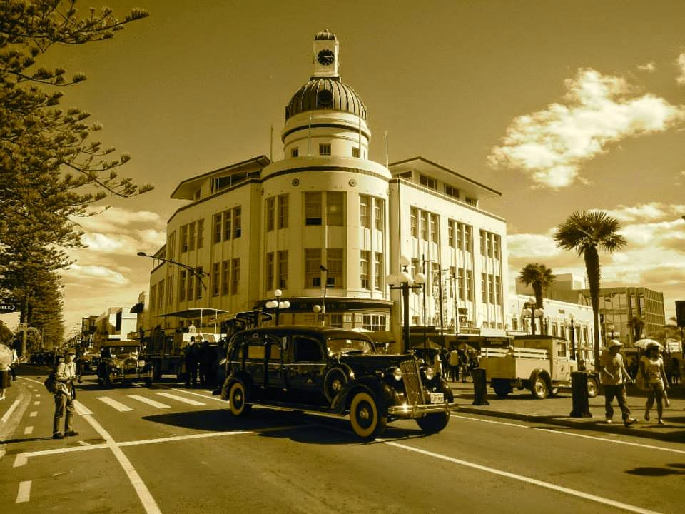 napier, art deco, north island, new zealand, buildings, 1920s.
