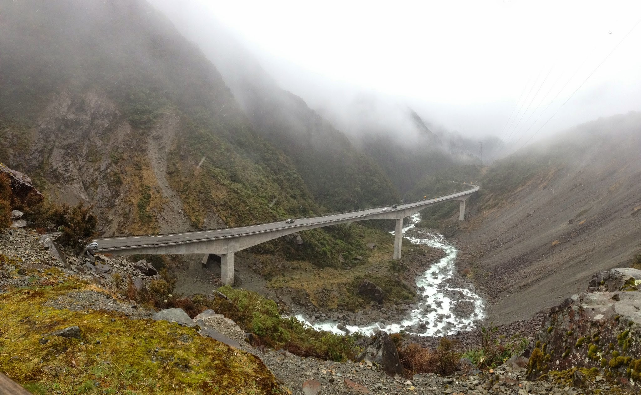 Arthur's Pass, south island, west coast, rainforest, new zealand, river, viaduct