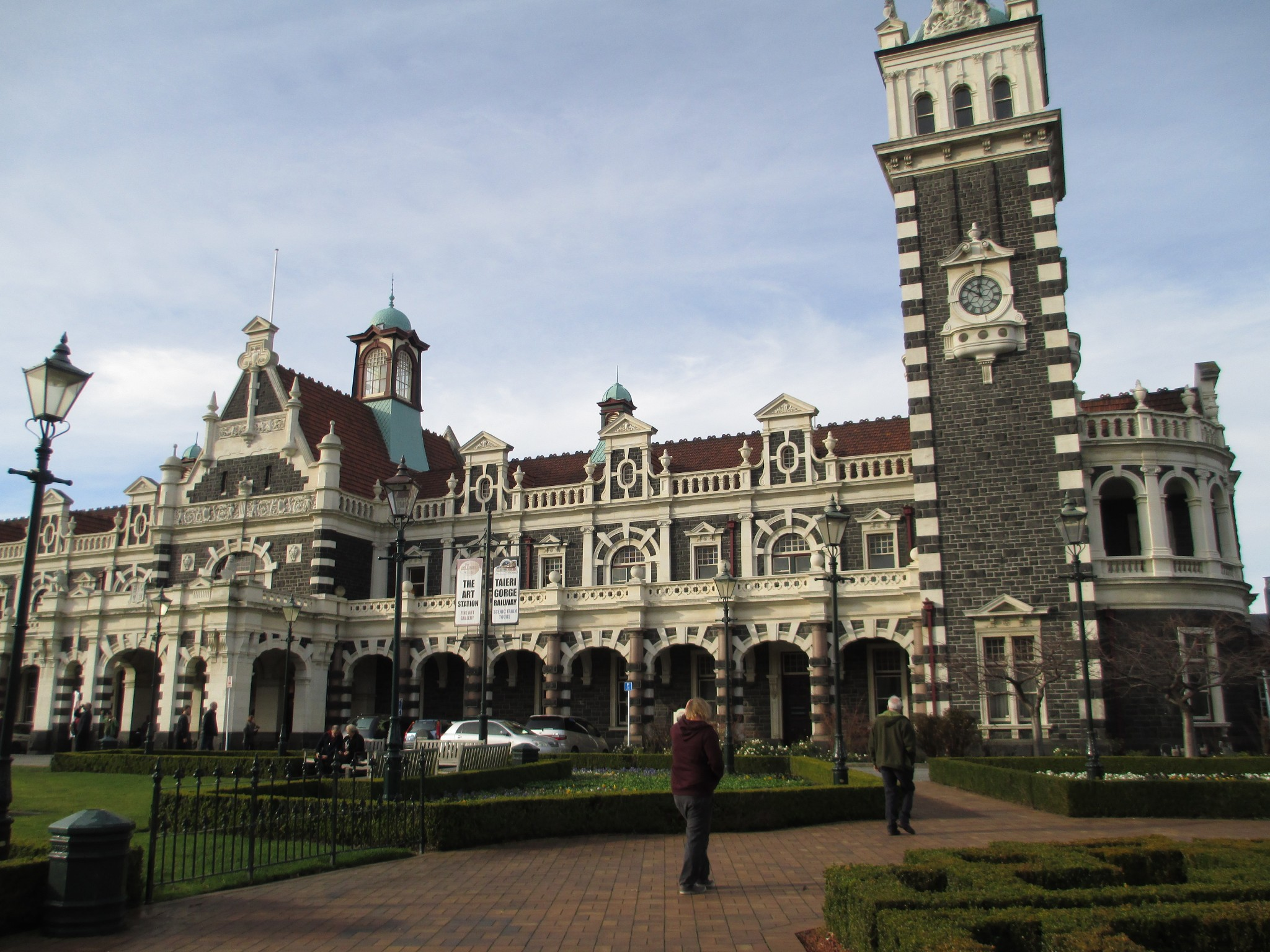 Dunedin, Train station, trains, south island, new zealand,