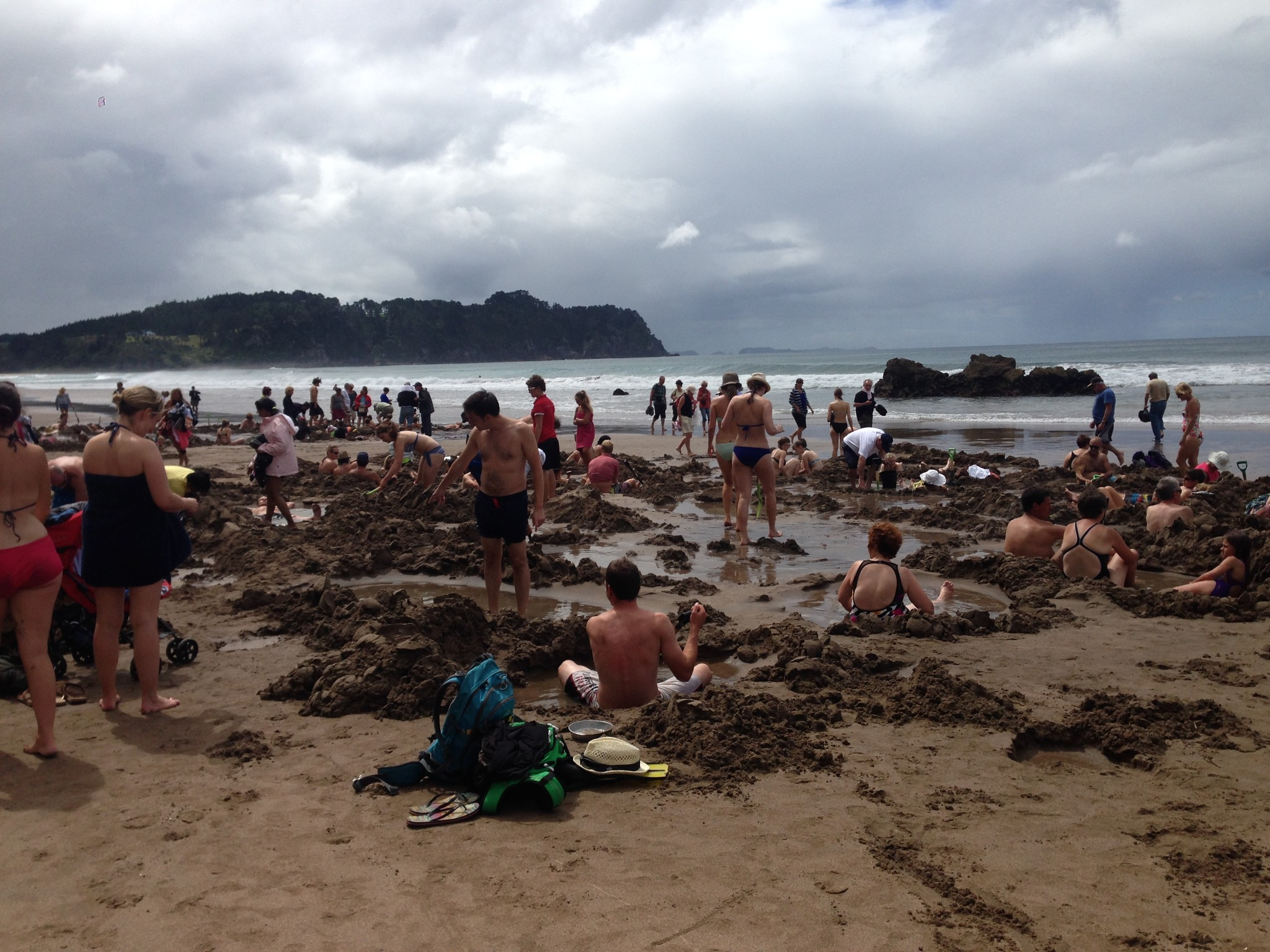 hot water beach, hot, water, beach, coromandel, north island, new zealand,