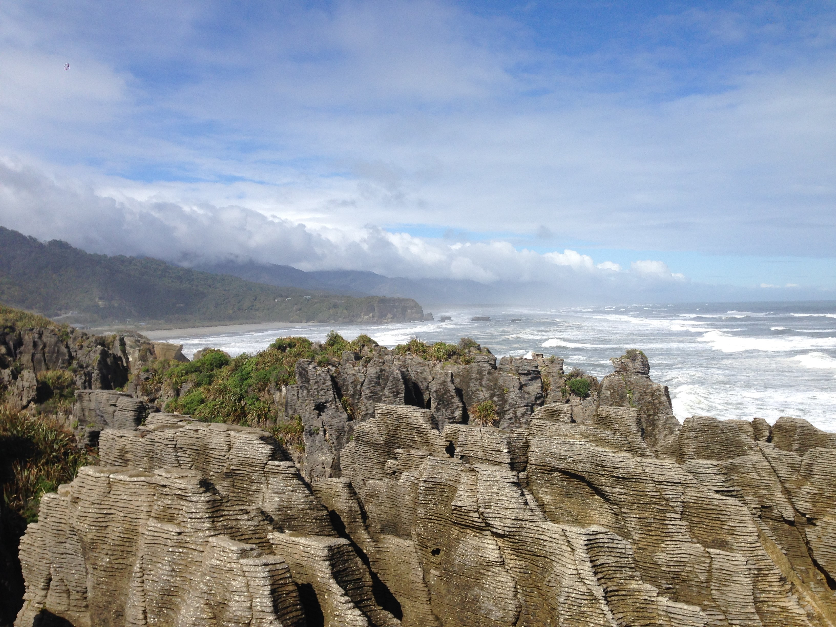 Pancake rocks, new zealand, south island, west coast, coast, rocks