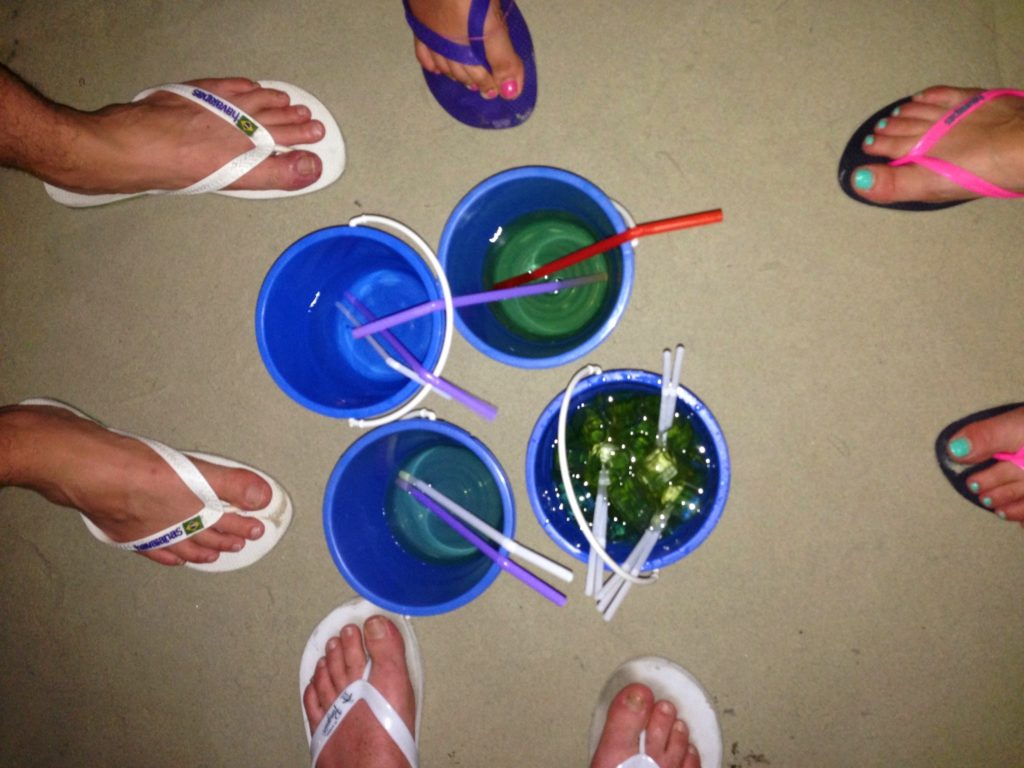Full moon, buckets, feet, flip flops, sand, beach, koh phangan, full moon party, thailand, travellers, travelling, backpackers, backpacking,