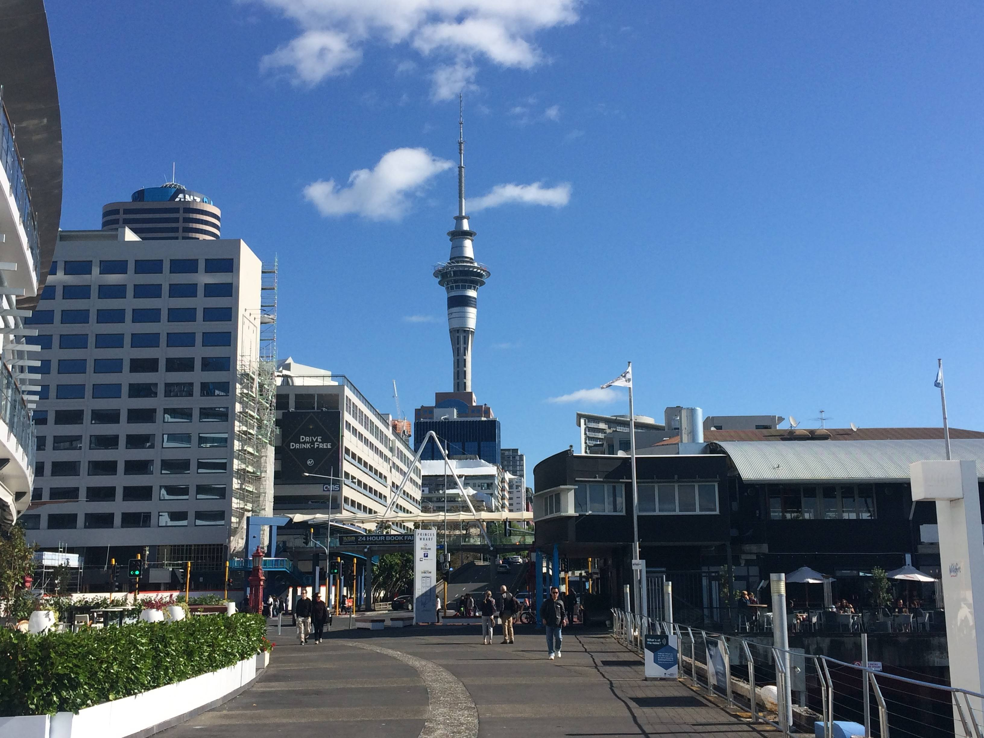 auckland, harbour, new zealand, travelling, travels, backpacking, city, sky tower