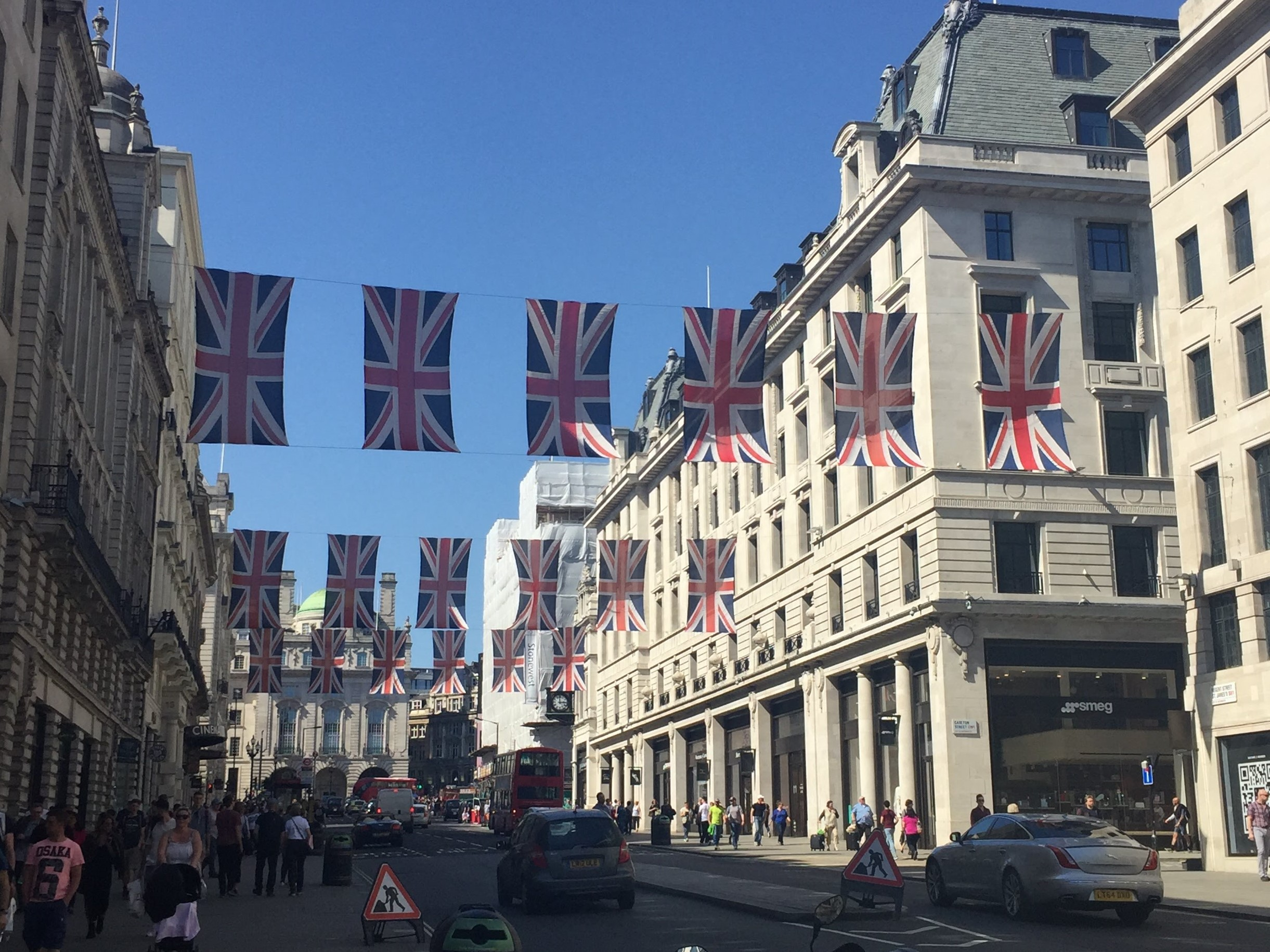 regent street, shop, london, blog, london blog, travel blog, flags, flag, union jack, union flag,