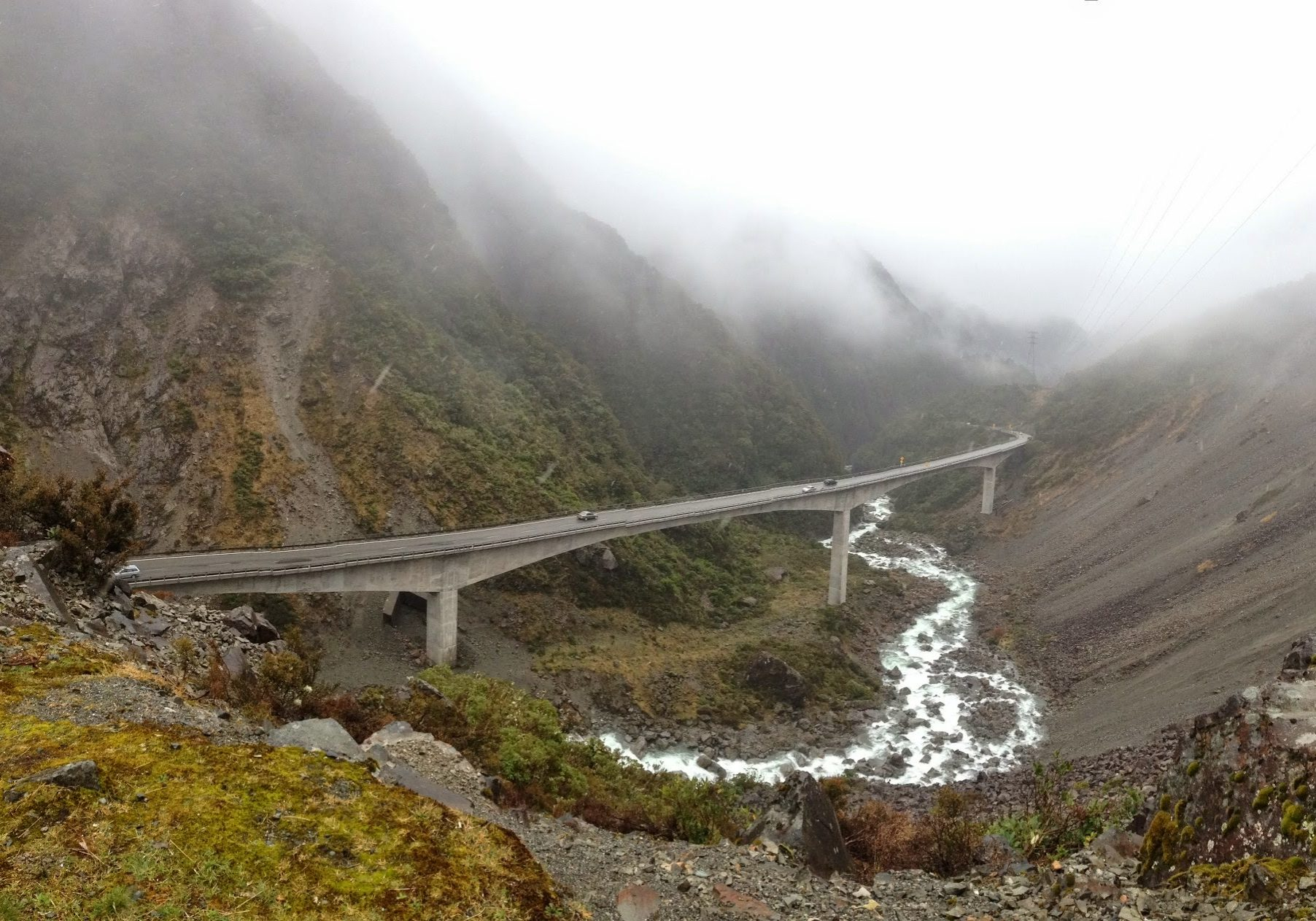 Arthur's Pass, south island, west coast, rainforest, new zealand, river, viaduct
