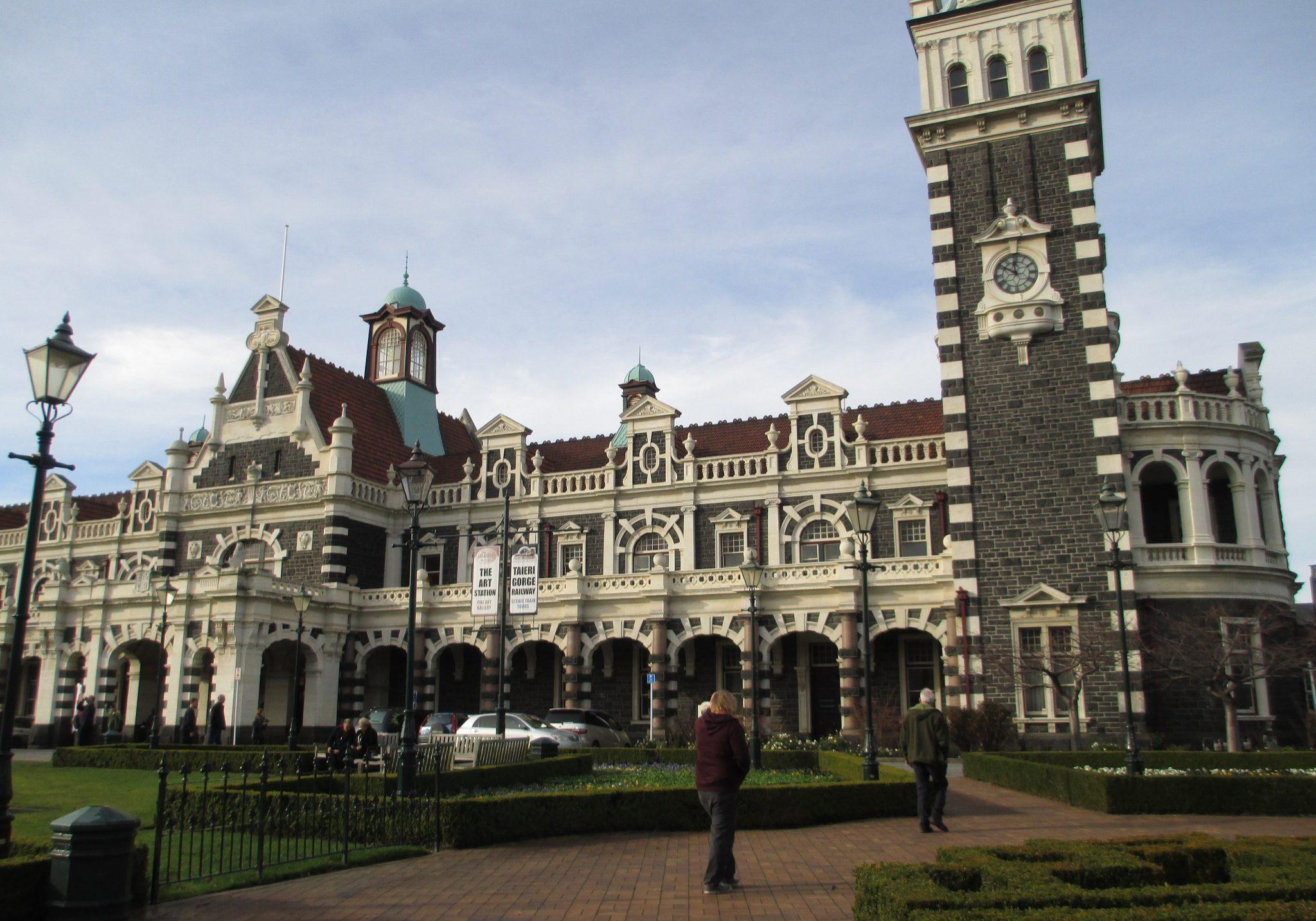 Dunedin, Train station, trains, south island, new zealand,