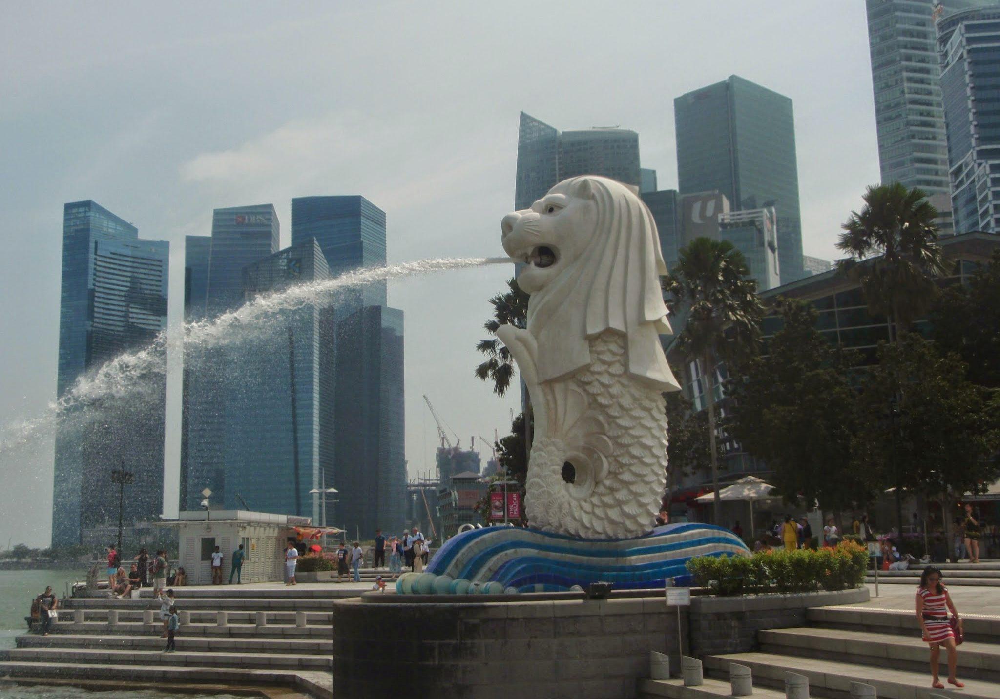Merlion, singapore, travels, travelling, backpacking, marina bay,