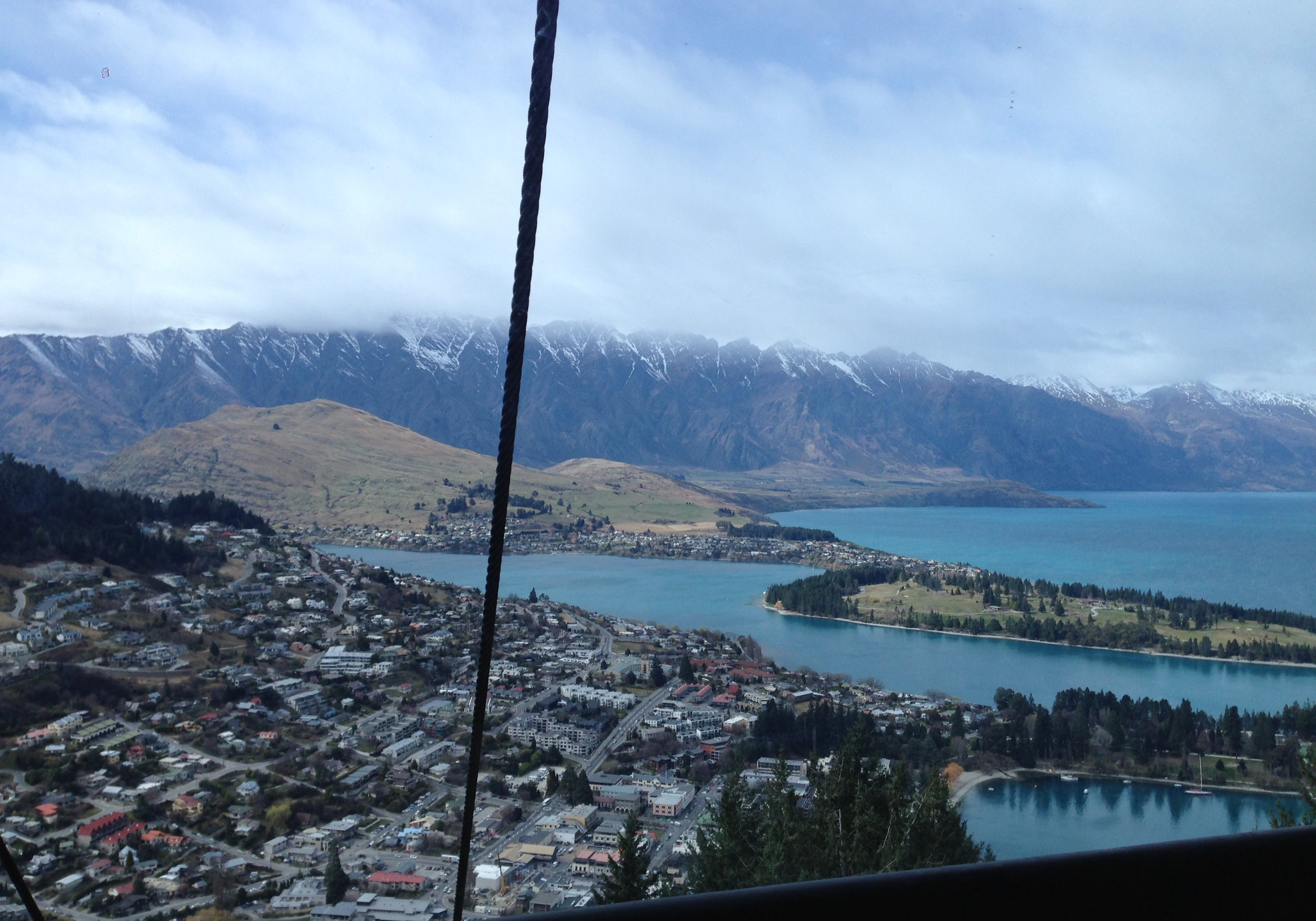 Queenstown, new zealand, south island, view, cable car, mountains